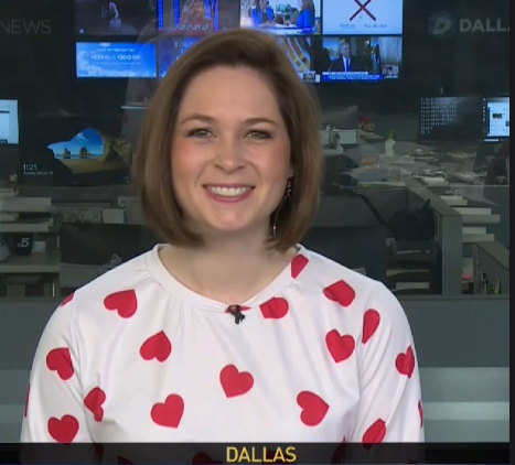 Two of my faves are looking so festive! @EvanNBC5s' red tie and love @sblaskovich heart shirt! #HappyValentinesDay Tune in! @NBCDFW