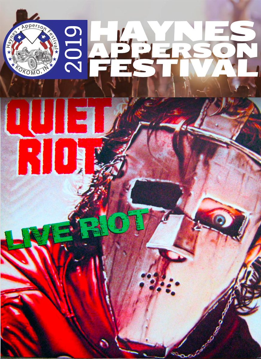 JUST ADDED! QUIET RIOT LIVE! THURSDAY JULY 4TH @ FOSTER PARK IN KOKOMO INDIANA!