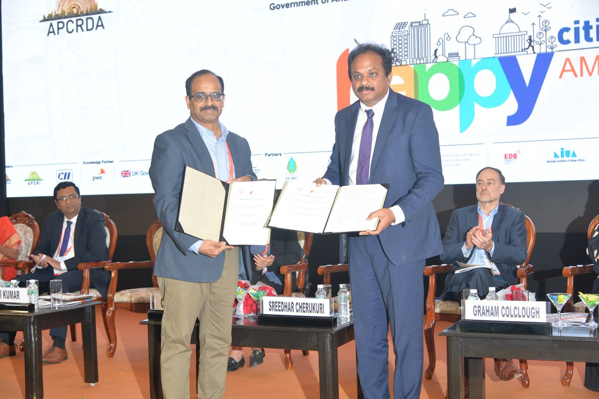 RT @HCSAmaravati Mr. Emani Kumar, Deputy Secretary General, ICLEI @ Valedictory function said that he was happy to be part of Happy Cities Summit and also revealed that ICLEI has signed a MOU with Amaravati for Eco-mobility festival, 4th city in the world to do this #HCS2019 #Valedictory #APCRDA