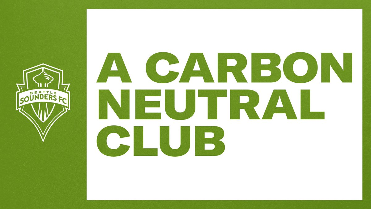 We are so excited that our own @SoundersFC team is committed to becoming #CarbonNeutral   That's a goal for the planet 🌿🌎  #SeattleSounders #ClimateAction