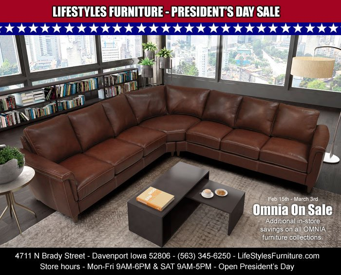 Save On All Omnia Furniture In At Lifestyles Sofas Sectionals Recliners And Home Theater Feb 15th Through March 3rd