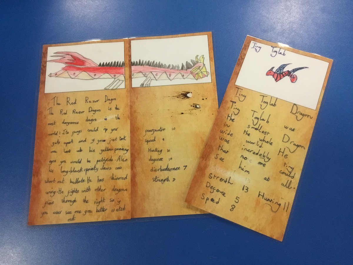 test Twitter Media - Amazing dragon profiles for our Top Trump Dragons cards. What would your dragon be called ? What dragon skills would it have?#gorseyenglish https://t.co/EArZRBwVKA