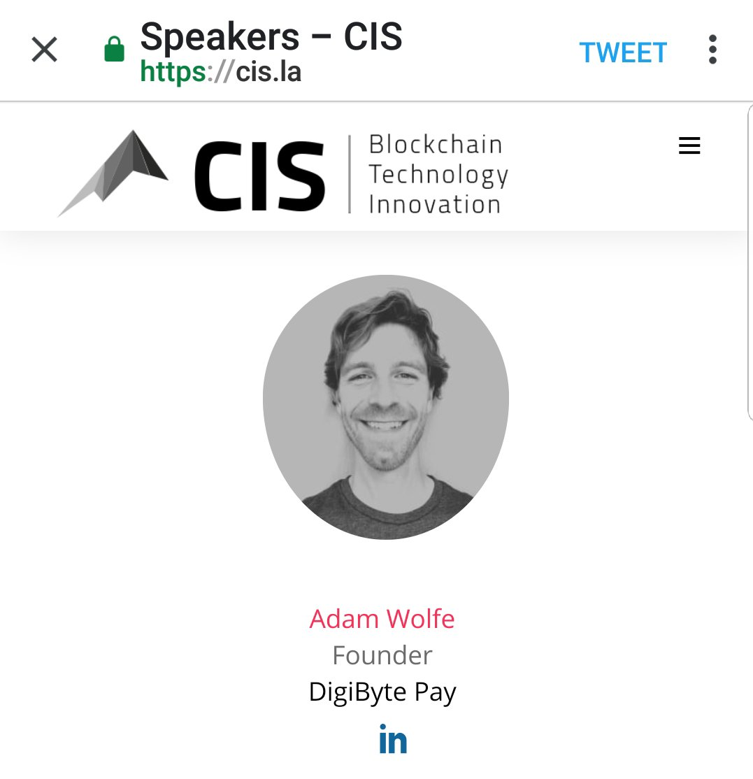 The @DigiByteCoin community is proud to partner with @cryptoinvestsmt for their event April 9-10 at the Los Angeles Convention Center  See @RealAdamWolfe speak about @GetDigiCafe as a featured panelist on #MassAdoption  Get tix today!  https:// cis.la / &nbsp;   #DigiByte #DGB #CISLA<br>http://pic.twitter.com/xnumKJPntb