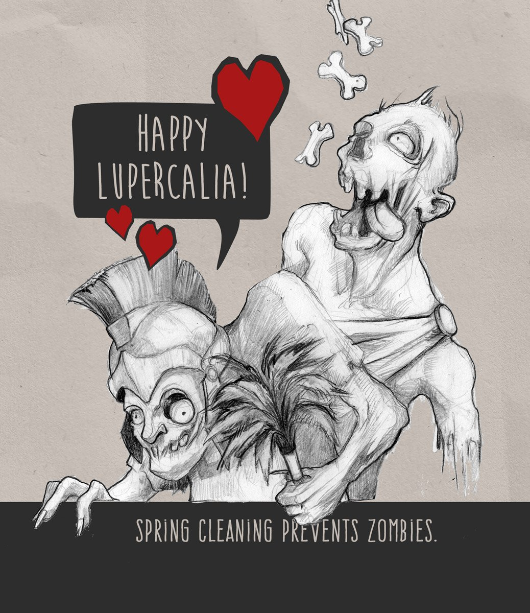 Not into #Valentine'sDay? How about an alternative? LUPERCALIA has zombies, streakers in leather thongs and dead puppies!  Ok, the last one might be a turn-off, but hear me out: https://t.co/wUeQHT22En