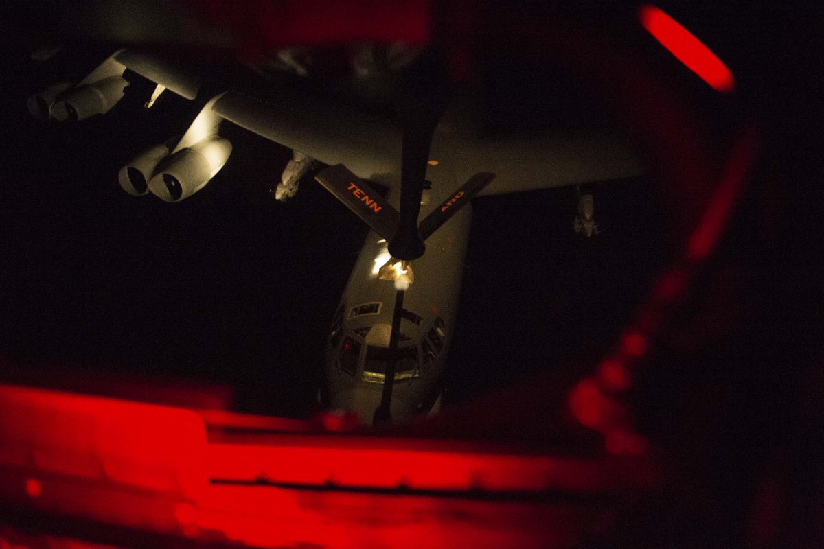 No matter the time of day, or how long the trip, @usairforce KC-135 Stratotankers keep the mission going.   Learn about the KC-135 here: https://t.co/XhRF1MOtST  #KnowYourMil