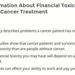 Image for the Tweet beginning: Cancer treatments can be expensive.