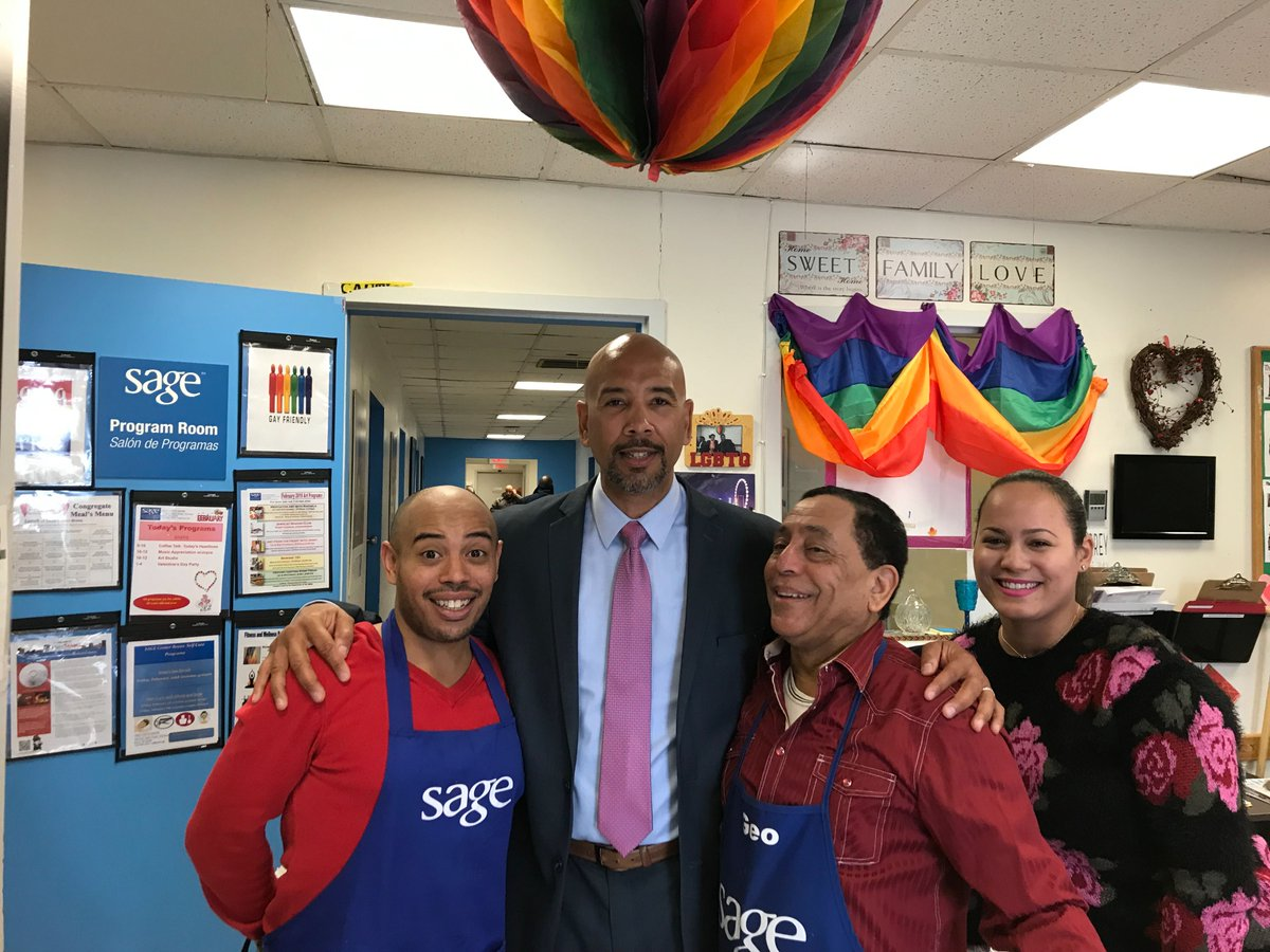 I had a great time today at the @sageusa #Bronx #LGBTQ Senior Valentine's Day celebration! In The Bronx we spread love!