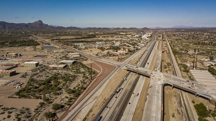The new Interstate 10 interchange at Ina Road in Marana is set to open in the coming weeks with high-tech cameras and sensors to keep traffic flowing. Learn more about the project in a growing area northwest of Tucson: https://t.co/PTTEsYOGqE #Tucson  #aztraffic
