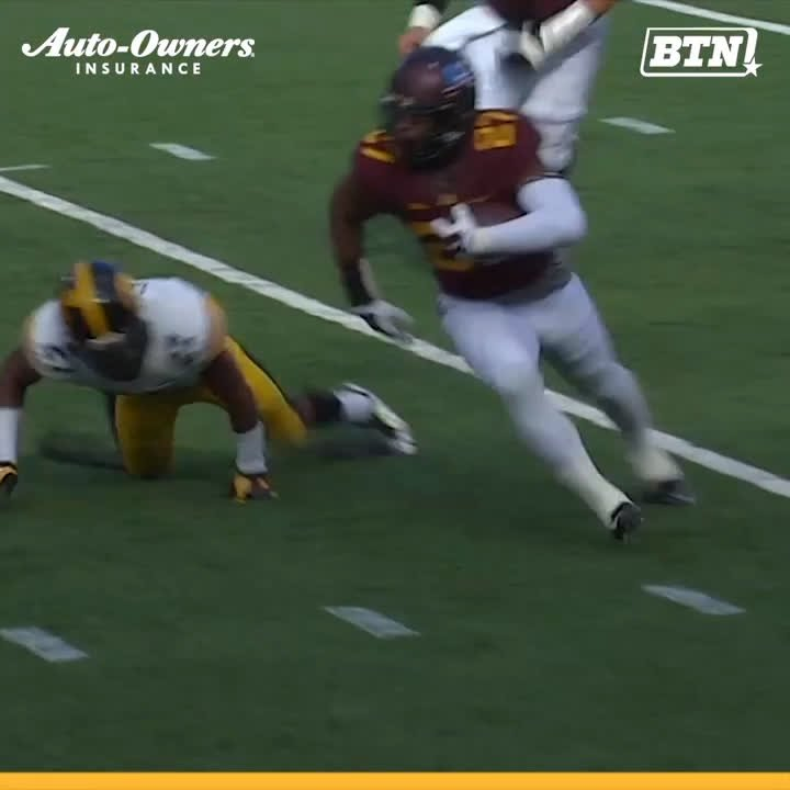 .@TheAAF is just heating up. 🔥  Former @GopherFootball RB David Cobb made his @aafcommanders debut this past weekend. #TBT   BTN x @AutoOwnersIns