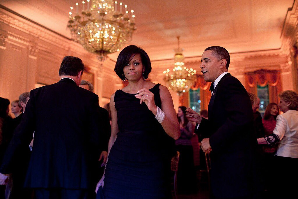 Happy Valentine's Day to the extraordinarily smart, beautiful, funny, one and only @MichelleObama. It's true; she does get down to Motown.