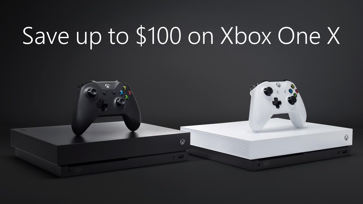 There's never been a better time to upgrade to the world's most powerful console.  Up to $100 off Xbox One X bundles for a limited time only: https://xbx.lv/2TQZrtg