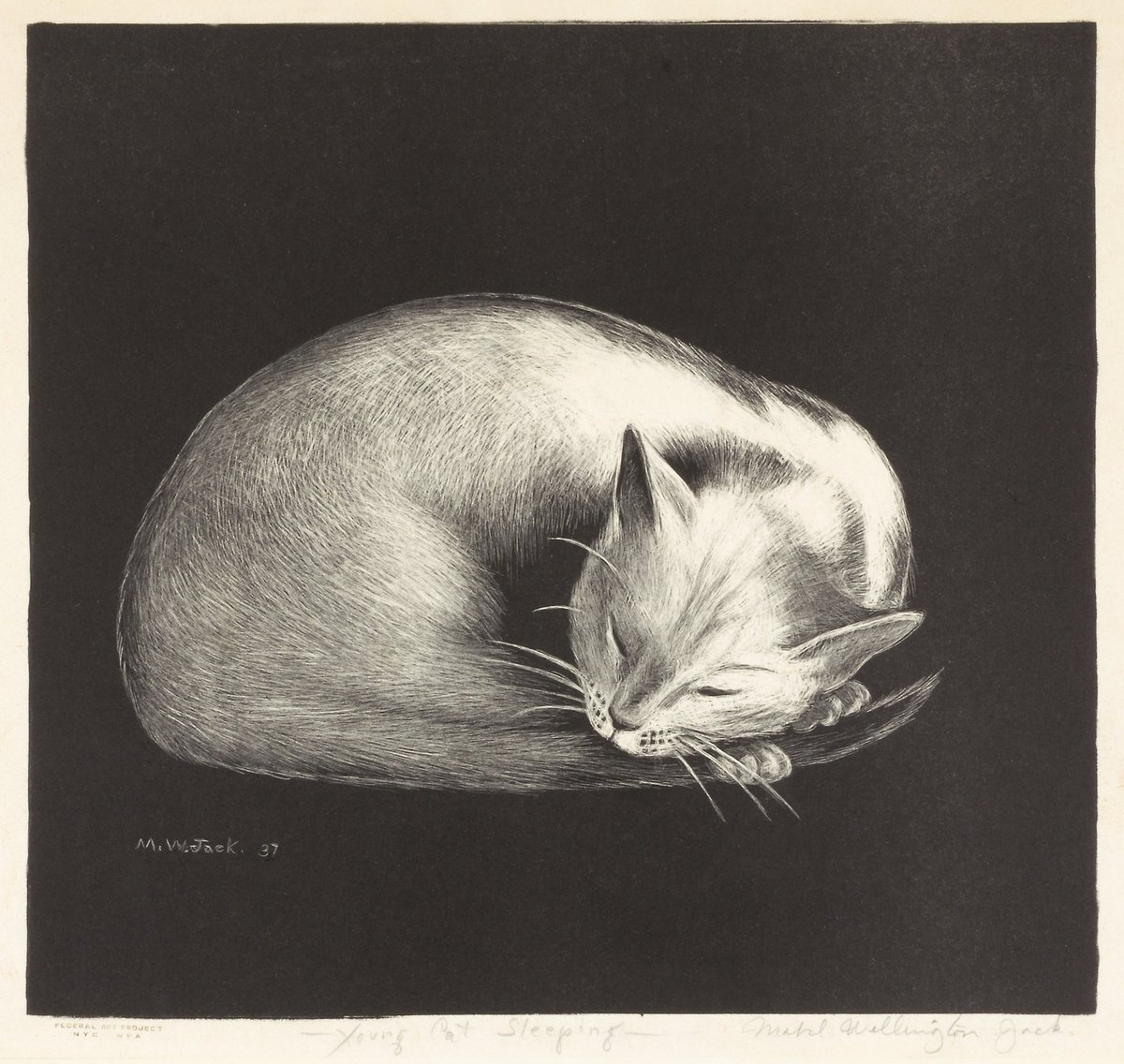 I'm not kitten around, I think you're purrrrfect 😻→ https://americanart.si.edu/artwork/young-cat-sleeping-11238…  What can we say, we're feeling a little punny this #ValentinesDay 😉
