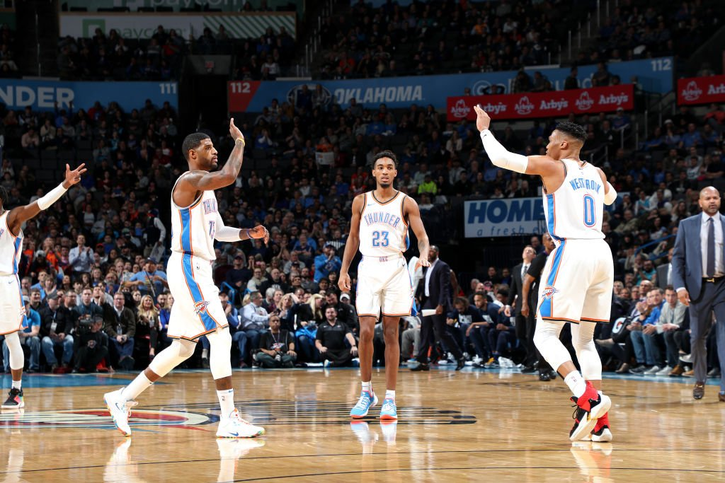 OKC has won 11 of its last 12 games, averaging a league-best 122.2 PPG while shooting 44.1% from three.   8:00pm/et: #ThunderUp x #DoItBig  @NBAonTNT Tune-In Tidbits: https://stats.nba.com/articles/tune-in-tidbits-tnt-thursday-feb-14-2019/…