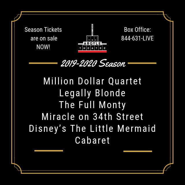 We are happy to announce our 2019-2020 Season! Can't wait for another amazing year in Babylon Village!