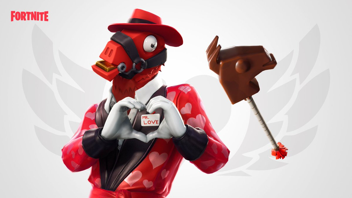 Hearts will melt ❣️  The new Cuddle Paw Pickaxe is here to complete the beary cute Cuddle Team Leader and Bear Force one set. Heartbreaker Outfit, Chocollama Pickaxe, Skully Outfit and Skully Splitter are also available now!   Unlock style challenges with the Skully Outfit. 💀