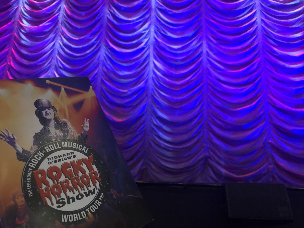 Front row at @rockyhorroruk! Let's do the #TimeWarp again!!  (BTW, my mom asked me what it's about, I didn't know how to start explaining it... 🤔)