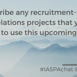 Image for the Tweet beginning: Q7: Describe any recruitment-focused public