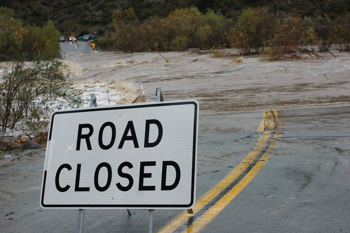 We've got a lot of road closures in the County due to the rains.   Make sure you're following @sdcountydpw for all the latest information.  Stay safe out there!