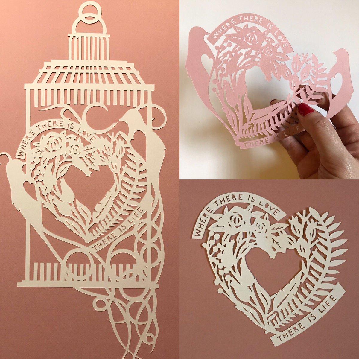 Happy Valentines Day ♥️ #paper #paperart #papercraft #papercut #valentines #lovebirds #love #heart #pink #art #artist #design #designers #etsy #etsyshop #EtsySeller