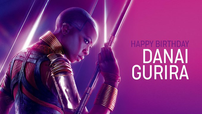 Die Schauspielerin von Okoye, DANAI GURIRA wird heute 41 ahre alt  Happy Birthday !