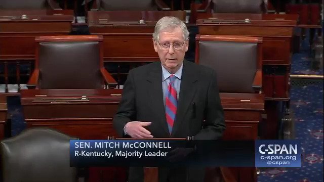""".@senatemajldr: """"I've just had an opportunity to speak with President Trump…he's prepared to sign the bill. He will also be issuing a national emergency declaration at the same time."""""""