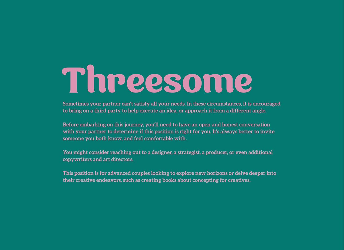 Comfortable threesome positions