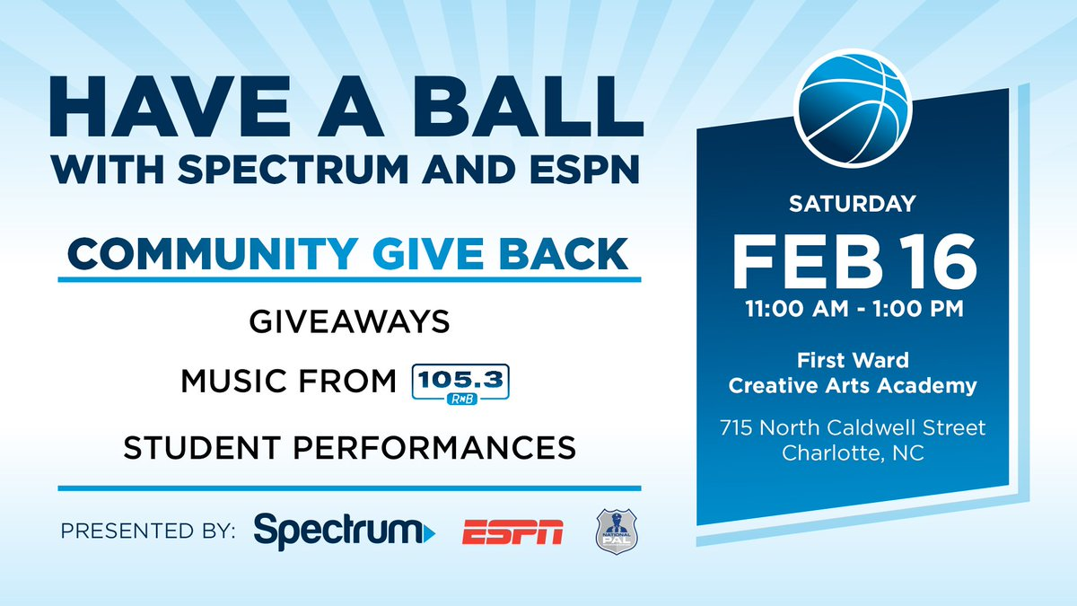 #Charlotte come join us tomorrow for giveaways, music and some special performances! #CommunityGiveBack