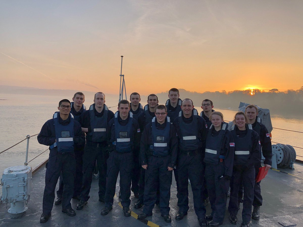 Day 1 as the crew of STV Brecon for the #Cunningham27s and it looks like they are loving life onboard.  Today they've taken part in a navigation exercise and dealt with some emergencies, practicing what they were taught in week 8.