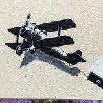 "Image for the Tweet beginning: Banksy ""Love Plane"" mural re-emerges"