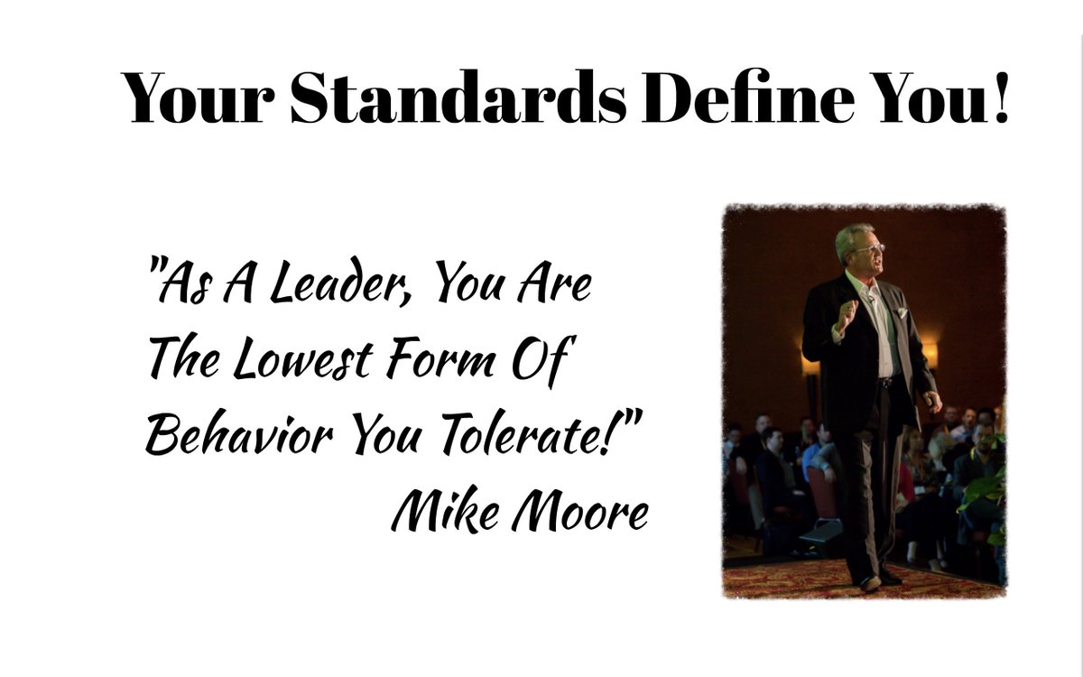 As a leader, you are defined by your standards! #MooreThoughts #Leadership #HighStandards #LeadershipDevelopment #BuildTrust #Excellence #Achievement #Homebuilding #NewHomeSales #Coaching http://dld.bz/fGKeK