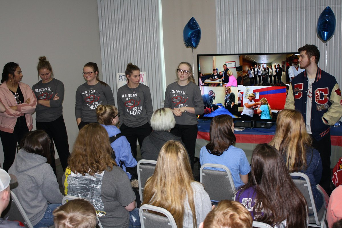 Sophomores from 10 area schools learned about the opportunities in Career and Technical Education on Wed. Students heard from the Clinton Technical School faculty and students, as well as these valuable community partners: @chooseGVMH, @JimFalkMotorsMO, @championoil and @sfccmo