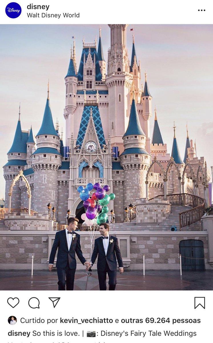 Post feito hoje pela Disney em seu Instagram oficial.  Justo hoje, o dia em q o STF pode mudar a história da causa LGBT no Brasil.  O mundo pede pela aceitação e reconhecimento do amor.