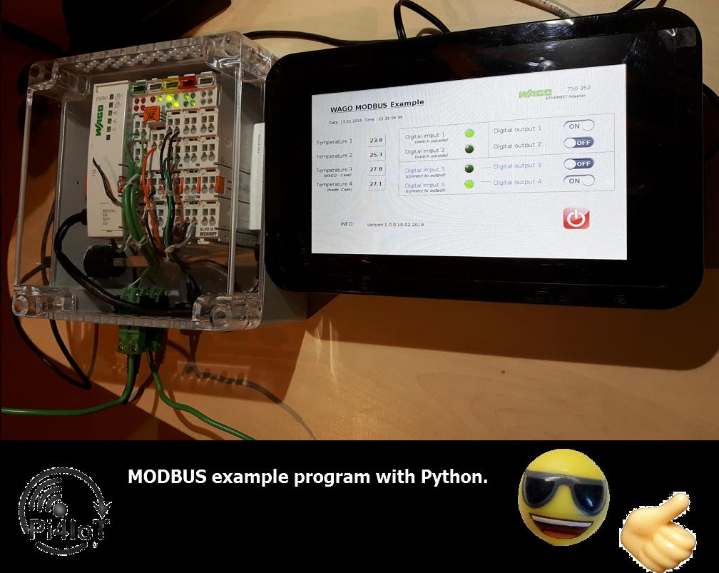 I write a example program to show how modbus works with Python