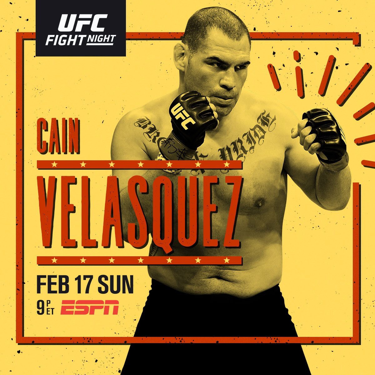 The return is almost here.   RT if you're w/ 🇲🇽 @CainMMA at #UFCPhoenix | SUNDAY | LIVE on @ESPN