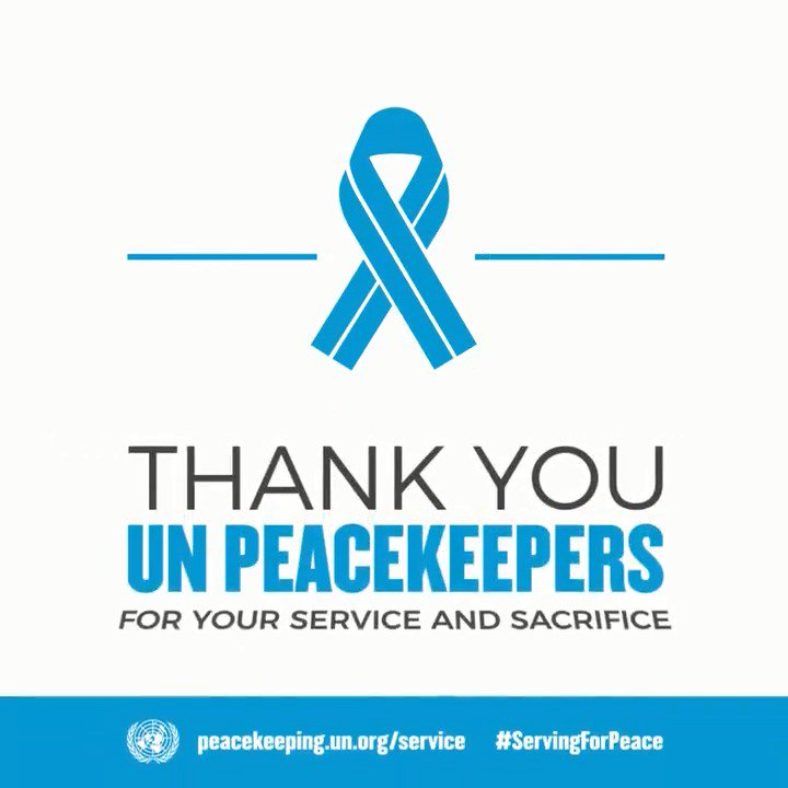 The service and sacrifice of @UNpeacekeeping personnel are always are the forefront of my mind. I thank them for #ServingForPeace with courage and compassion every day. https://peacekeeping.un.org/en/service