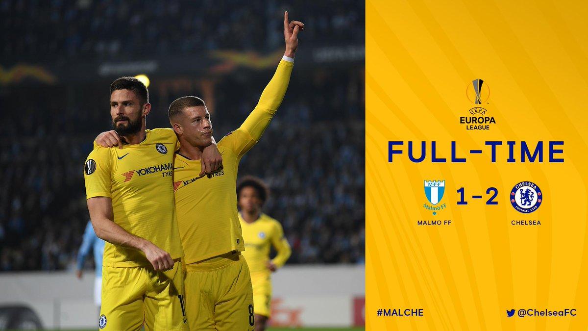 Xem lại Malmo vs Chelsea, 3h00 ngày 15/2 (Europa League)