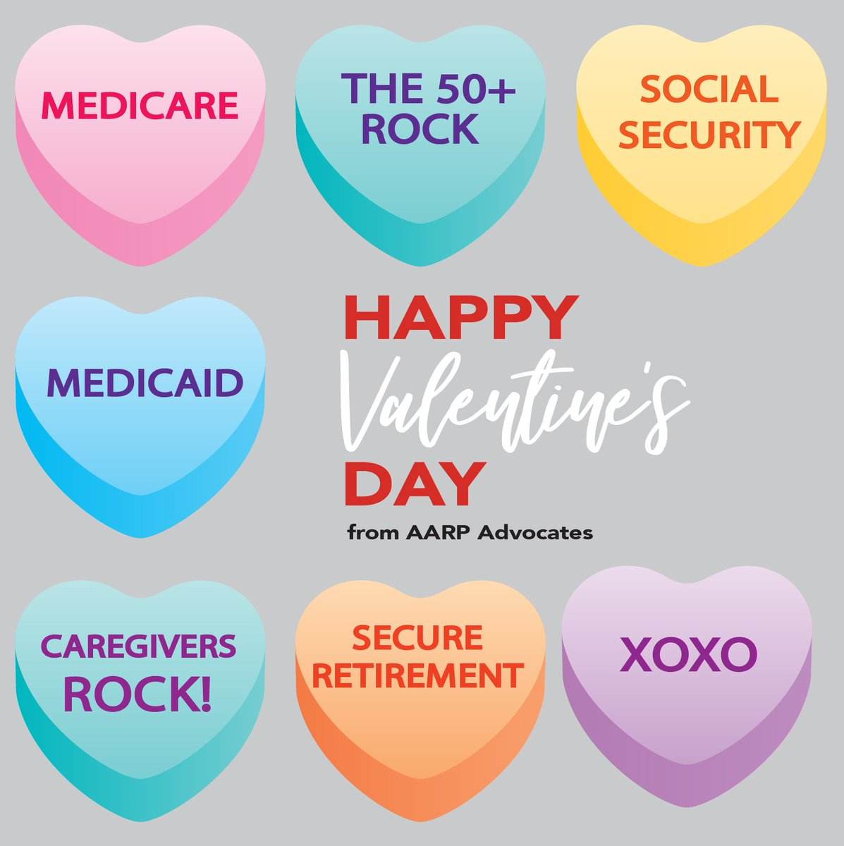 True love is our members and volunteers joining us every day to fight for the issues that matter most to Americans 50+. Our hearts are full 🥰  Happy #ValentinesDay to all!
