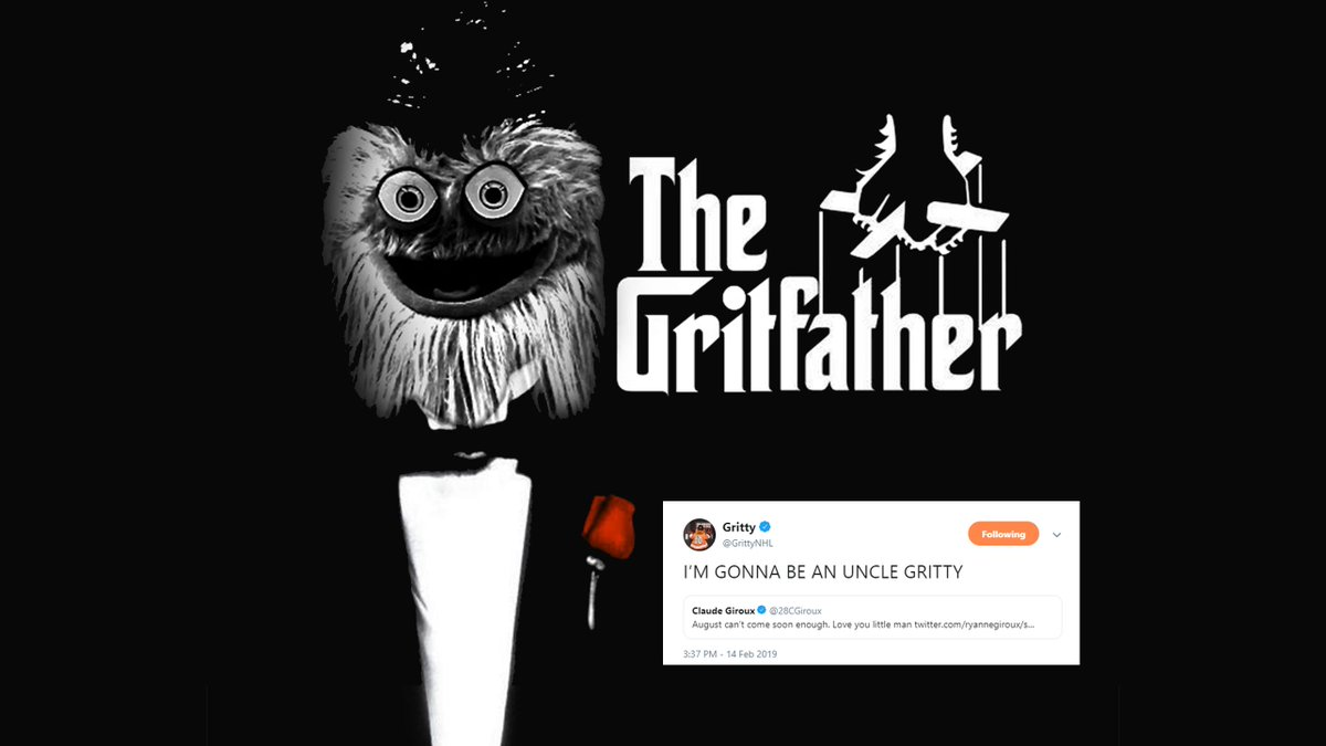 Looks like @GrittyNHL is making @28CGiroux an offer he can't refuse.