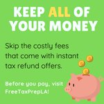 """Image for the Tweet beginning: """"Get your tax refund fast"""""""