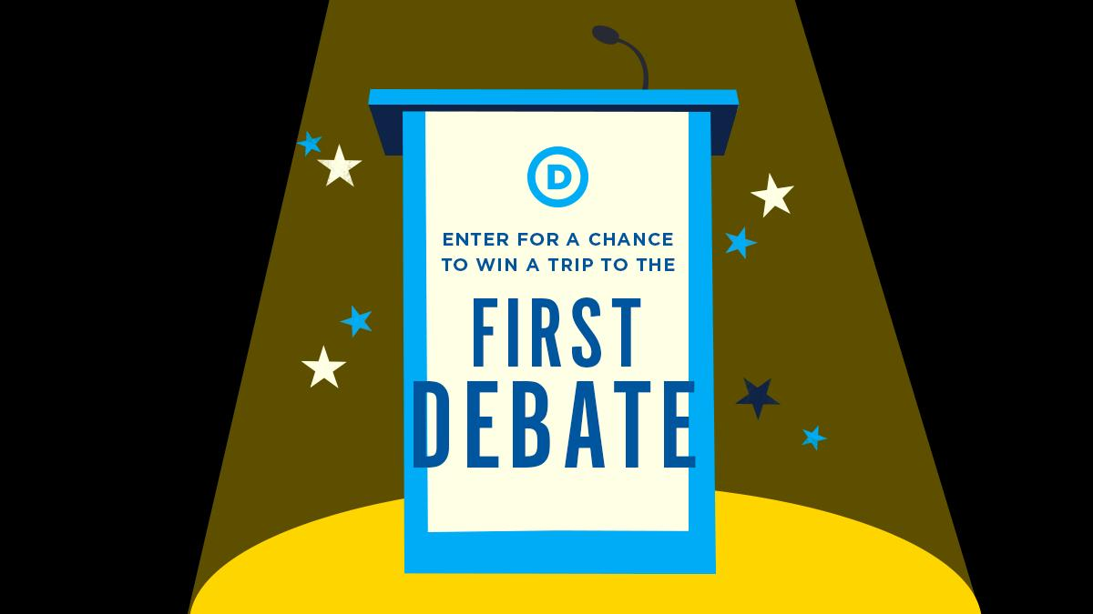 Don't miss out on the opportunity of a lifetime. ⬇️Sign up today to enter for a chance to win a trip for 2 to our very first presidential primary debate:  https://bit.ly/2SQte8a