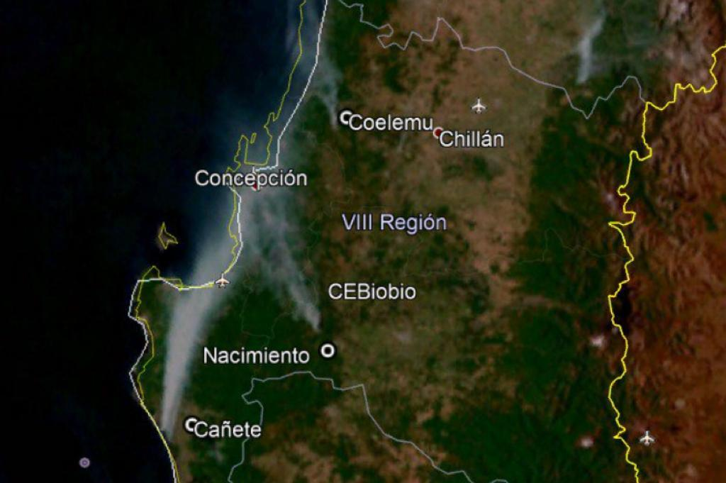 """BioBioChile on Twitter: """"⚠️ Concepción cubierto por el humo de ..."""