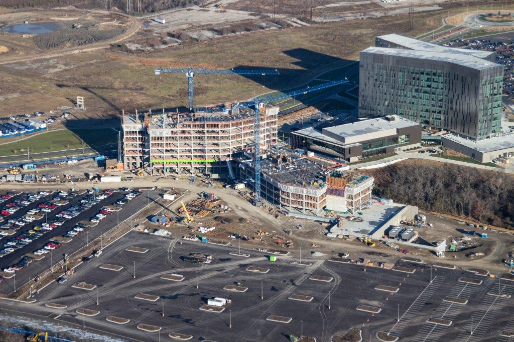 Cerner Innovations Phases 3 & 4.  10 months down. 14 months to go. 360 skilled trade workers up to date. 340,311 man hours up to date.  We're proud of @Cerner who will continue to enhance the #healthcare system for our surrounding communities. #InspiredPlaces