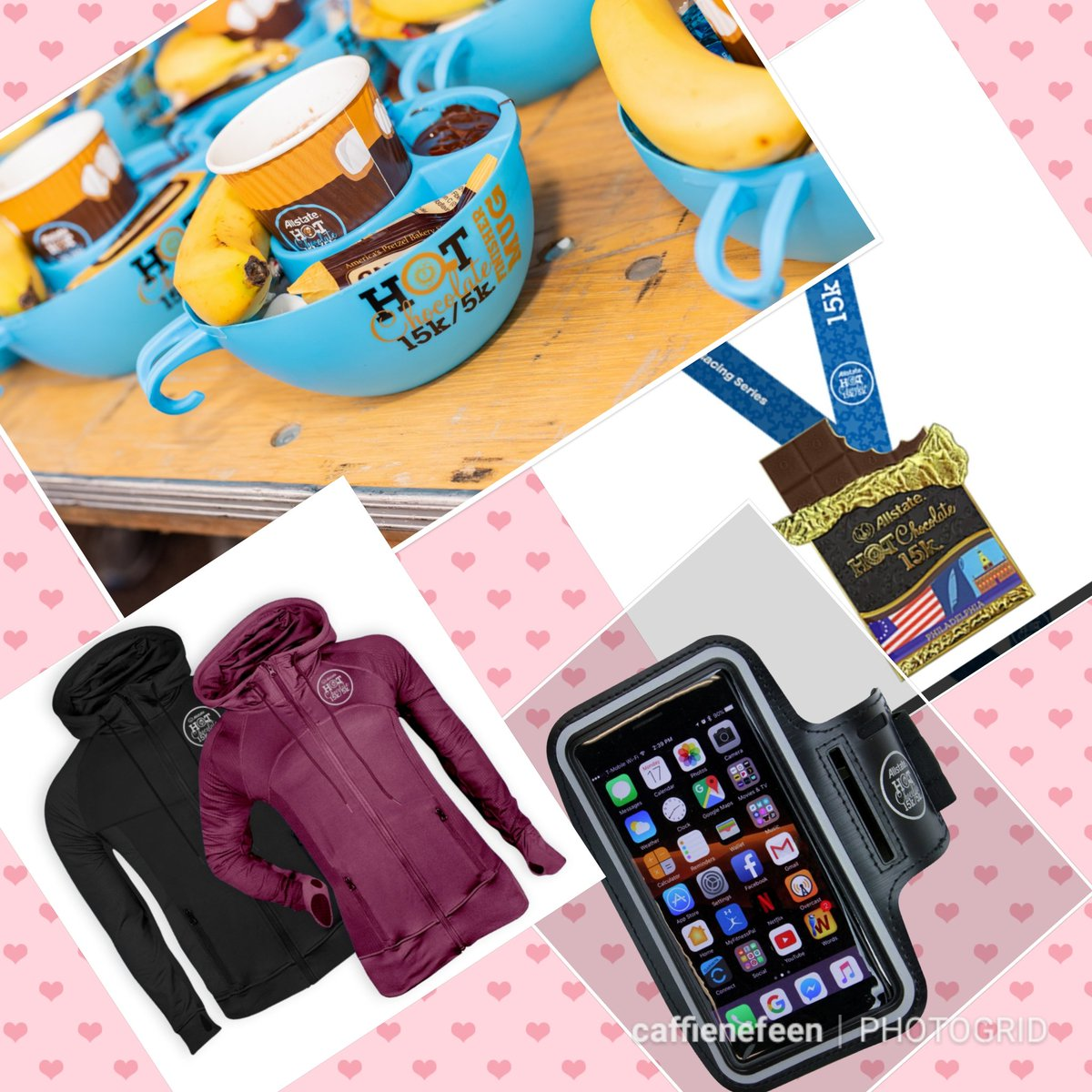 Happy Valentine's day! 💝☕🍫🏃♂️😀 Give the gift of chocolate, plus running of course! 😍😉 Dont forget to treat yo self! 4/6 - #HC15k Philly!  code BRHCPhilly for a free smart phone arm band!  #HCPhillyBR #BibChat  #BibRavePro #ad #sponsored