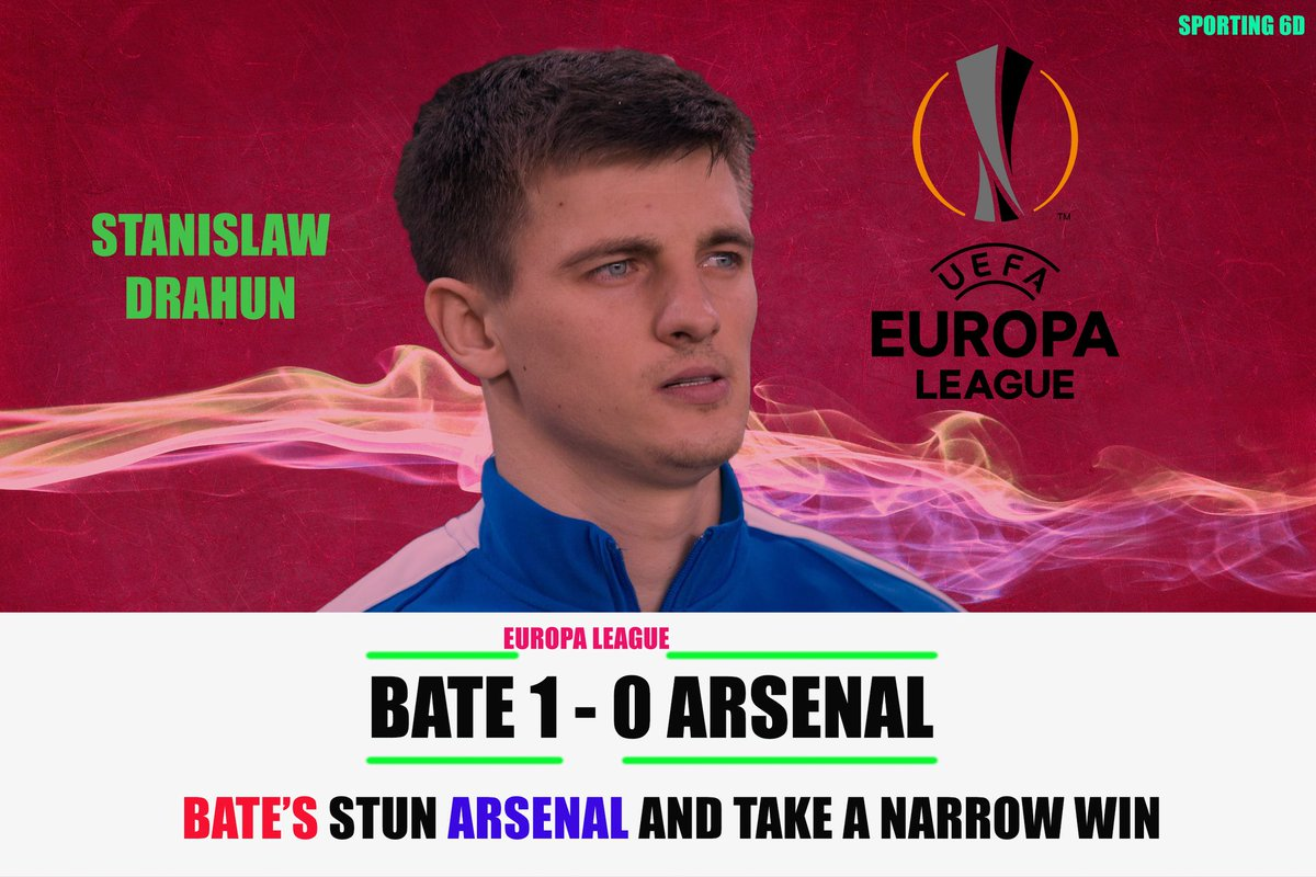 Bate's stun the gunners in the Europa League opener. Away games are difficult especially you're battling crowd atmosphere. Away win boosts morale ! #BATARS #Arsenal #BateArsenal #UEL #FOOTBALL #BATE