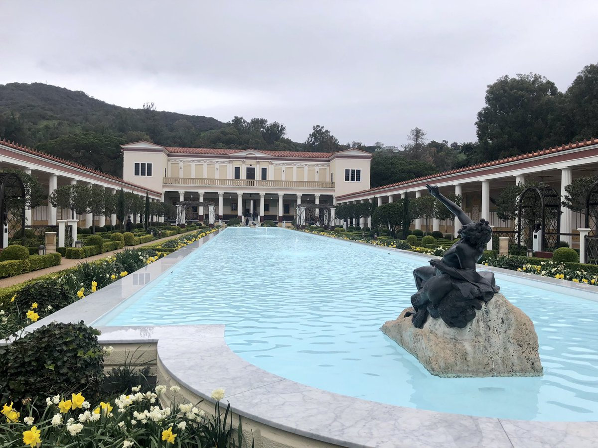 The Getty Villa is so beautiful. J Paul wanted it to look like the Villa of Papyri in Herculaneum. @TheGetty @GettyMuseum – at J. Paul Getty Villa