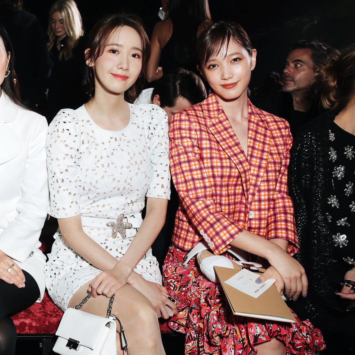 Front-row faces: brand ambassadors YoonA and Tsubasa Honda at the Fall 2019 #MichaelKorsCollection runway show. #AllAccessKors #NYFW #YoonA  #TsubasaHonda