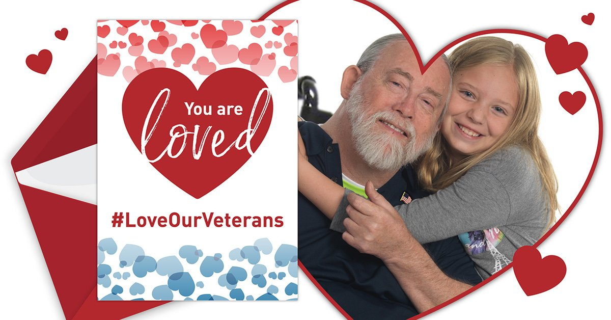 Make this a special Valentine's Day for paralyzed #veterans! Send a Valentine to a veteran #LoveOurVeterans https://bit.ly/2GExuAP