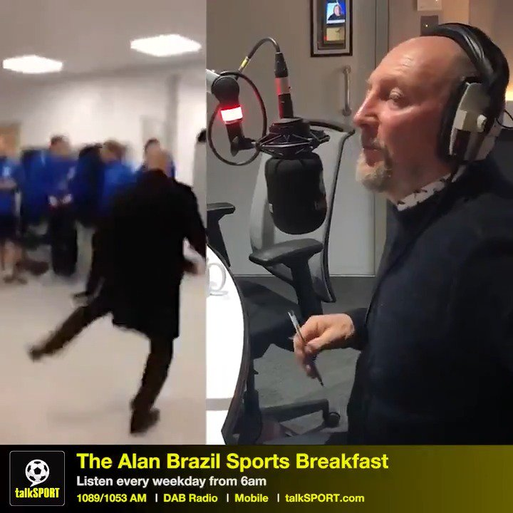 """""""I wouldn't say I was breakdancing, no.""""  """"I could kill @YannickBolasie who filmed it... some things should be private!""""  """"The public haven't seen my best moves.""""  With breakdancing set for the Olympics, we asked Ian Holloway about his nifty footwork at #CPFC 🕺😂"""