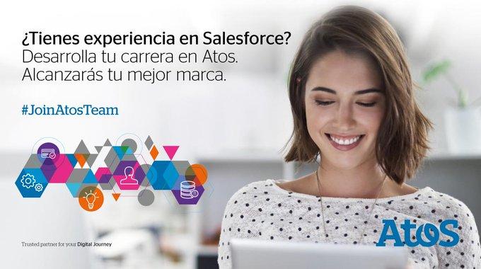 ¿Quieres desarrollar tu talento en @salesforce? Únete al equipo de Atos! #JoinAtosTeamhttps:...