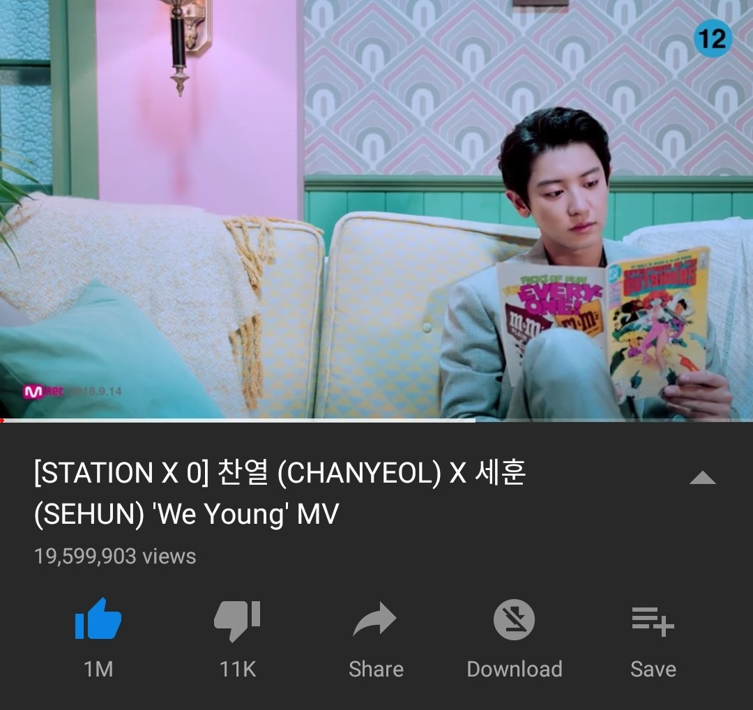 EXOLs, are you streaming &quot;We Young&quot; with us right now? Reply with your screenshot and make sure to include #영원히_찬열이랑함께_위영 ♡   Current views : 19,599,903 (-400,097 to 20M)  @weareoneEXO #CHANYEOL #찬열 #灿烈 <br>http://pic.twitter.com/QE0I1Ckbzc
